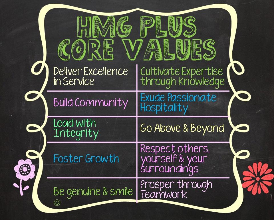 HMG Plus Core Values