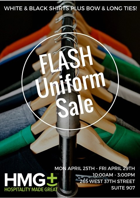 Flash Uniform Sale